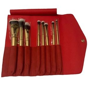 Luxie Holiday Travel Glitter & Gold Brush Set